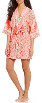 In Bloom by Jonquil Mystic Paisley Crochet-Trimmed Paisley Wrap Robe