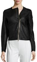 Escada Mesh Leather Moto Jacket