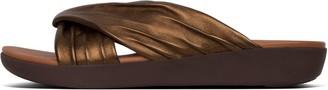 FitFlop Twyla Metallic Leather Toe-Post Sandals