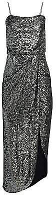 Derek Lam 10 Crosby Women's Lexis Sequin Side Slit Sheath Dress