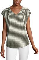Liz Claiborne Short Sleeve V Neck T-Shirt