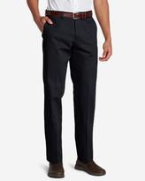 Eddie Bauer Men's Wrinkle-Free Slim Fit Flat-Front Performance Dress Khaki Pants