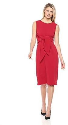 Sharagano Women's Sleeveless Dress with tie Front