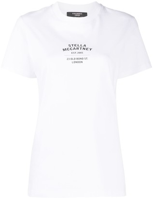 Stella McCartney logo address print T-shirt