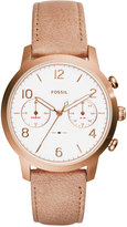 Fossil Women's Caiden Nude Leather Strap Watch 38mm ES4238