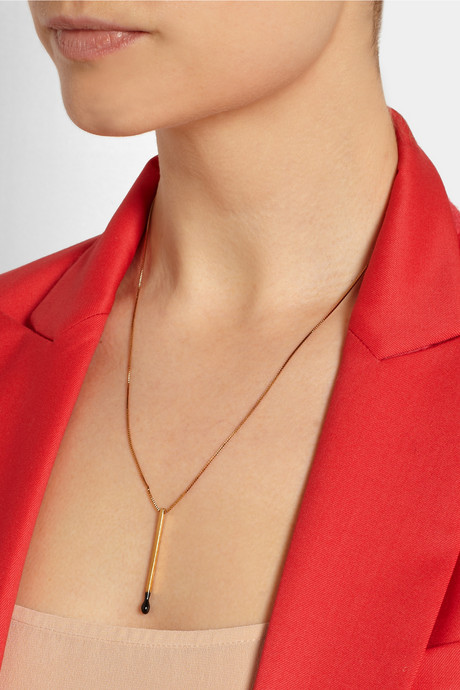 Stella McCartney Matchstick gold-tone necklace