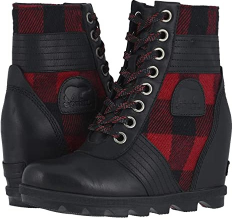 sorel lace up wedge