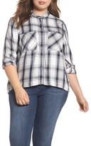 Melissa McCarthy Plus Size Women's Plaid Shirt