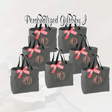 Etsy 10 Personalized Bridesmaid Tote Bags Monogrammed Tote, Bridesmaids Tote, Personalized Tote, Monogram