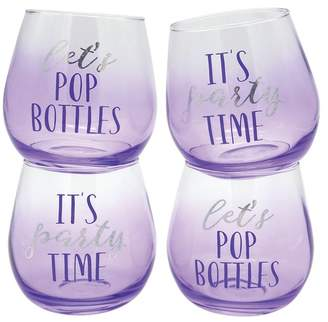 TMD HOLDINGS Lilac Stemless Wine Glass - Set of 4