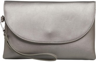 Fluid Womens Clutch Bag With Hand Strap Pewter