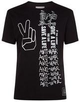 Miharayasuhiro Peace Print Short Sleeve T-shirt