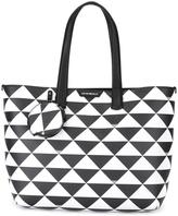 Emporio Armani triangles tote - women - Leather - One Size