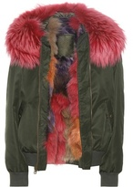 Mr & Mrs Italy Fur-trimmed bomber jacket