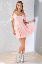 Kimchi & Blue Kimchi Blue Cold Shoulder Fit + Flare Dress
