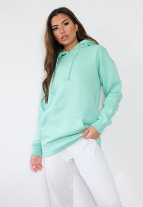 Missguided Tall Green Basic Hoodie
