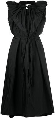 Jil Sander Flared Shoulder Dress