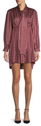 Balenciaga Paisley-Print Mini Dress