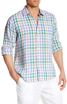 Toscano Long Sleeve Regular Fit Linen Shirt