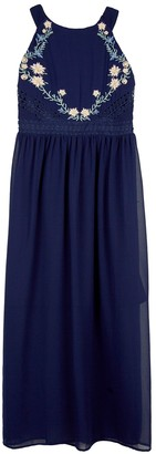 Amy Byer Girls 7-16 & Plus Size IZ Halter Maxi Dress