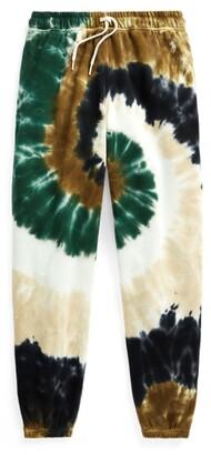 Ralph Lauren Spiral Tie-Dye Terry Sweatpant