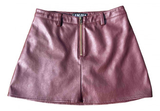 I.AM.GIA Burgundy Leather Skirts