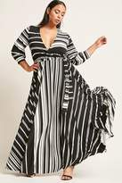 Forever 21 FOREVER 21+ Plus Size Striped Maxi Dress