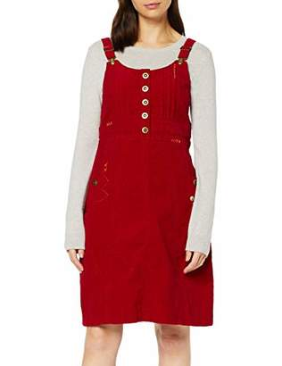 Joe Browns Womens Button Up Front Cord Pinafore Dress Red