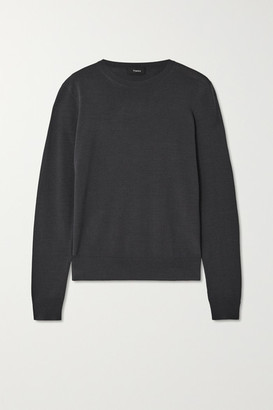 Theory Wool-blend Sweater - Navy