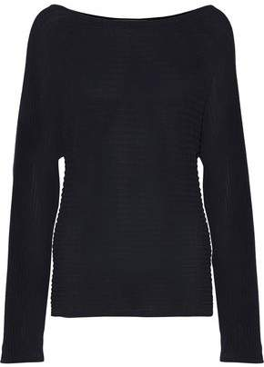 Dion Lee Tie-Back Cutout Cotton-Blend Ribbed-Knit Sweater