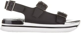 Hogan Buckle Detail Sandals