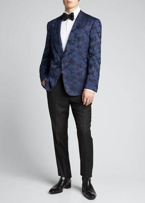 Ralph Lauren Purple Label Men's Silk Jacquard Dinner Jacket