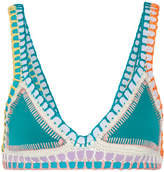 Kiini Liv Crochet-trimmed Triangle Bikini Top - Jade