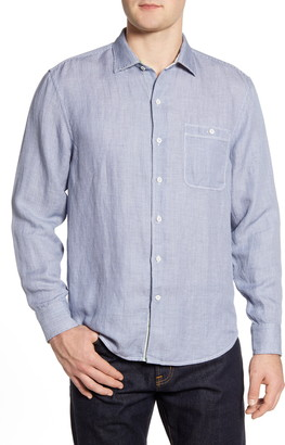 Tommy Bahama Line in the Sand Linen & Tencel(R) Lyocell Button-Up Shirt