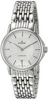 Edox Women's 57001 3M AIN Les Bemonts Analog Display Swiss Quartz Silver Watch