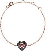 Rosegold Latelita Diamond Heart Pink Tourmaline Bracelet