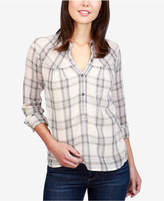 Lucky Brand Cotton Plaid Top