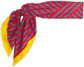 Fendi Printed Cotton Scarf - Red