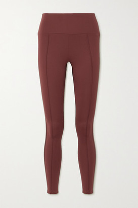 Vaara Nica Satin-trimmed Stretch Leggings - Red