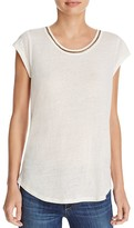 Soft Joie Damani Chain-Trimmed Tee