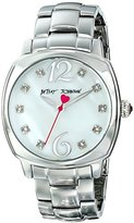 Betsey Johnson Women's BJ00427-01 Analog Display Quartz Silver Watch
