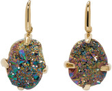 Christopher Kane Gold and Iridescent Single Stone Earrings