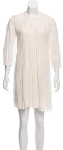 Burberry Embroidered Mini Dress