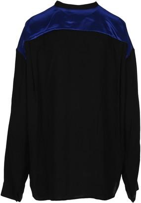 Haider Ackermann Contrast Panel Long-Sleeve Shirt