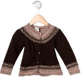 Bonpoint Girls' Fair Isle Wool Cardigan