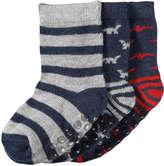 Joe Fresh Baby Boys' 3 Pack Print Socks, Navy (Size 0-12)