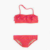 J.Crew Girls' ruffle bikini set in sailor stripes