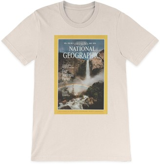 Disney National Geographic x Parks Project Vintage Magazine Cover T-Shirt for Adults Natural