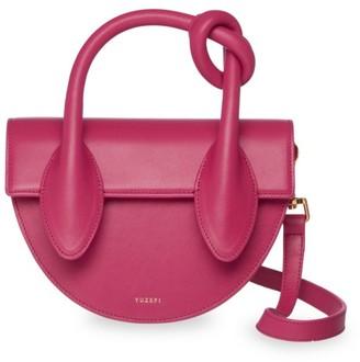 Yuzefi Dolores Leather Top Handle Saddle Bag