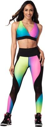 Zumba Fitness Zumba Women's Standard V Neck Style Compression Dance Workout High Impact Sports Bra
